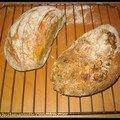 Moi aussi, j'ai testé le pain sans pétrissage, version sucrée (noisettes, cannelle, orange confite)