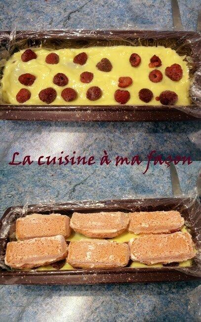 bûche vanille framboise 2