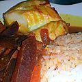 Curry de poisson aux betteraves et carottes