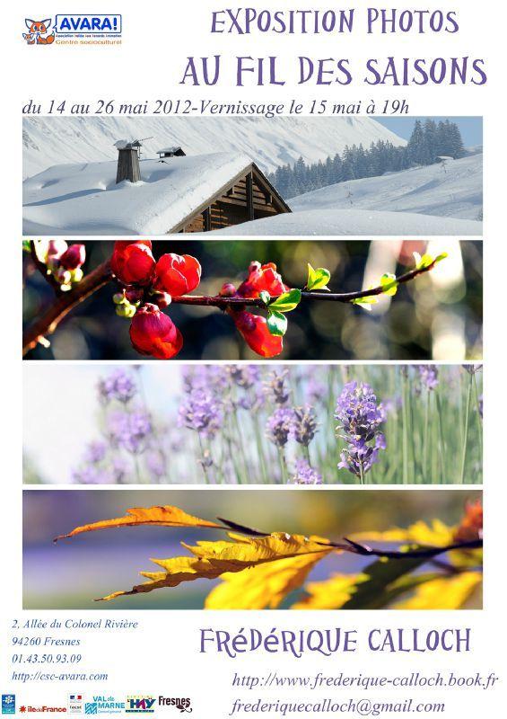 Au fil des saisons Frédérique Calloch Affiche fb