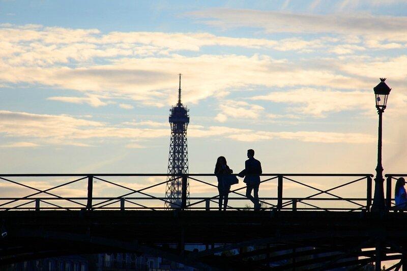 1-Pont des arts, amoureux, coucher de soleil_1161