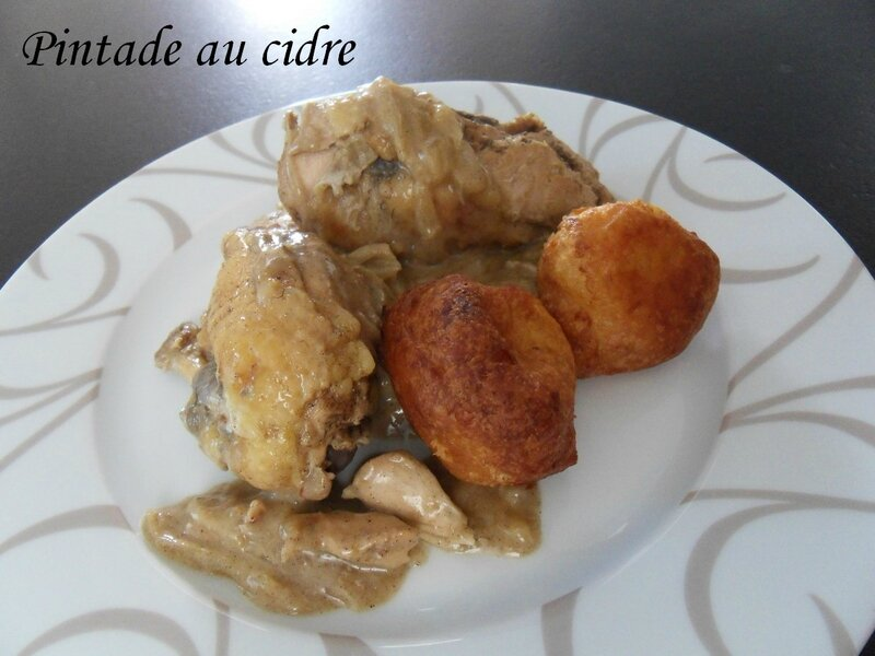pintade au cidre recettes voyageuses de barbara. Black Bedroom Furniture Sets. Home Design Ideas