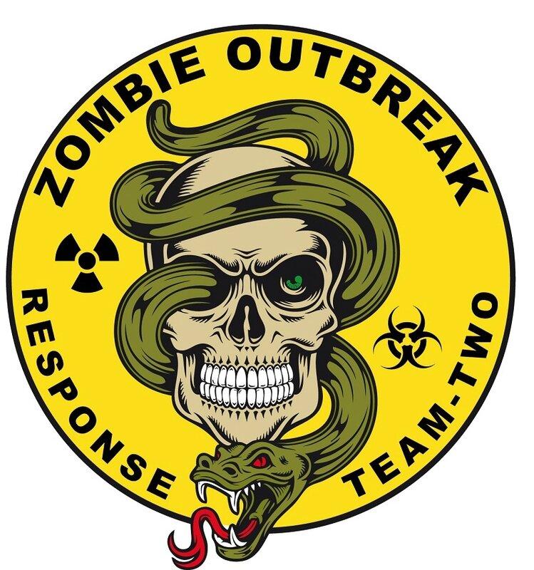 Zombie - zombie outbreak - Zombie party - Zombie response - Zombie hunter - Zombie team - biohazard - Printables - labels - Halloween -