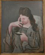Picasso Olga pensive 1923