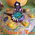 gâteau sorciere halloween