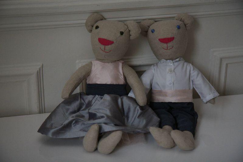 Les petits enfants d'honneur du mariage du grand frère