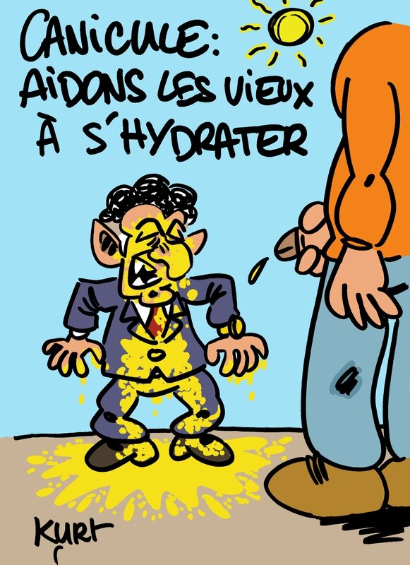 canicule aidons les vieux a s'hydrater