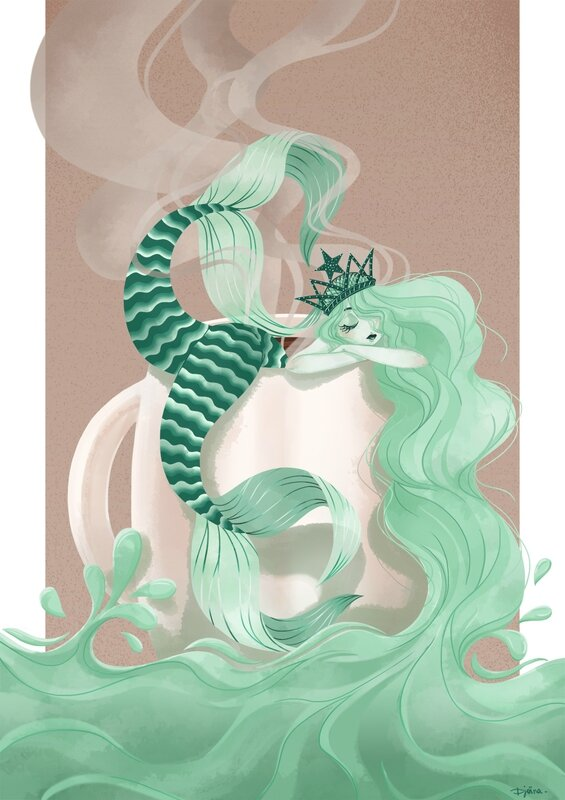 starbuks mermaid