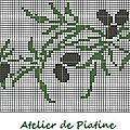grille broderie branche d'olivier