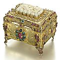 An ottoman jade and gem-set silver-gilt casket, turkey and china, 19th century