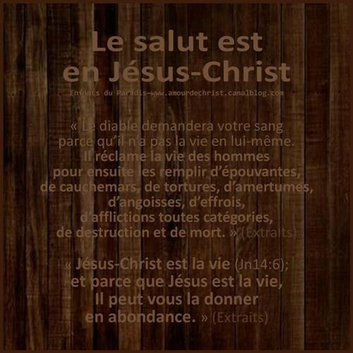 Le salut de Dieu est en Jésus-Christ