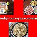Poulet aux pommes et au curry