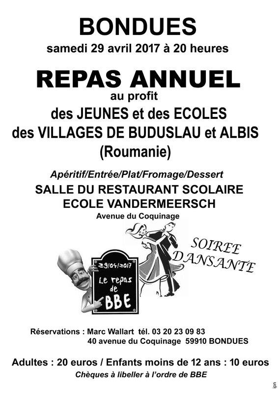 AFFICHE BBE REPAS 2017 A3