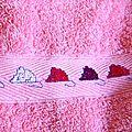 drap de bain frise la souris verte