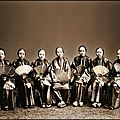 Afong lai, entitled group of chinese women with fans, canton china, c. 1880