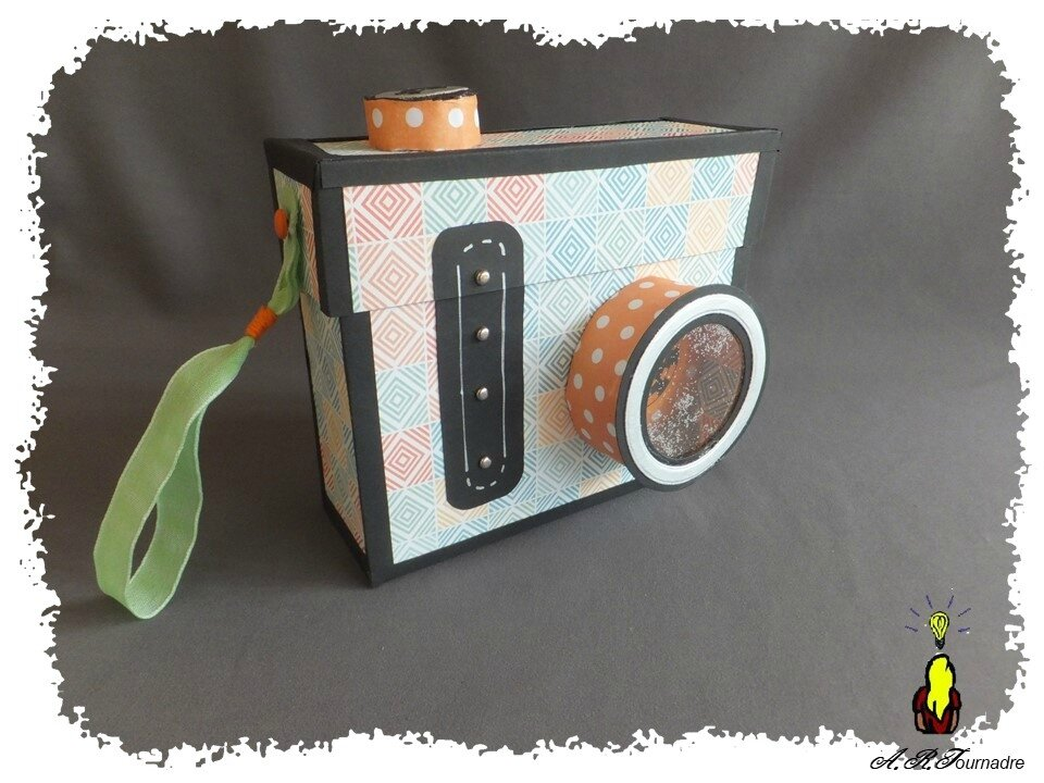 mini album de scrapbooking appareil photo partie 1 la boite appareil photo les passions d 39 art. Black Bedroom Furniture Sets. Home Design Ideas