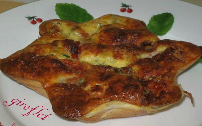 clafoutis chèvre et tomates cerises
