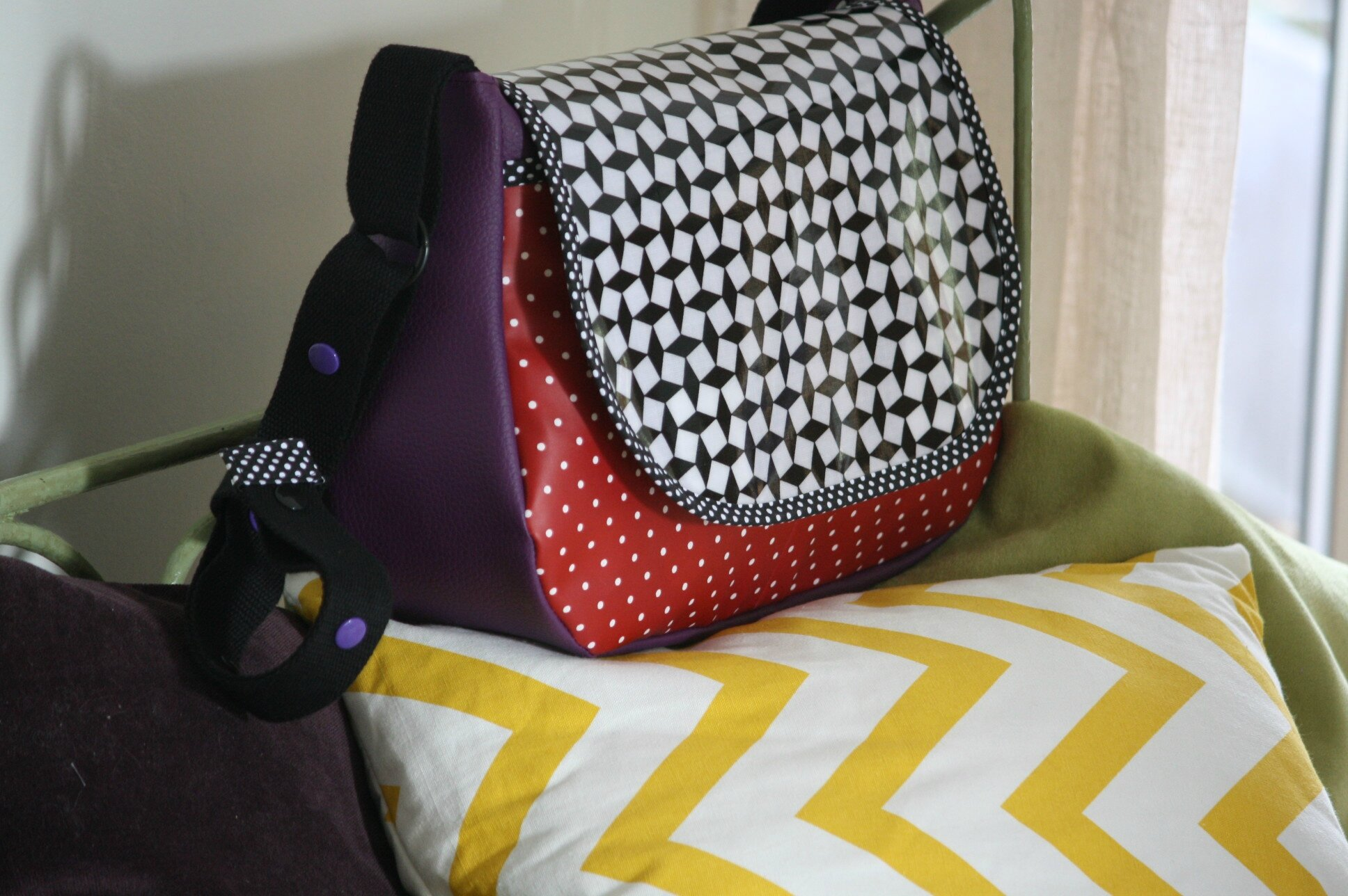Grand sac besace graphique