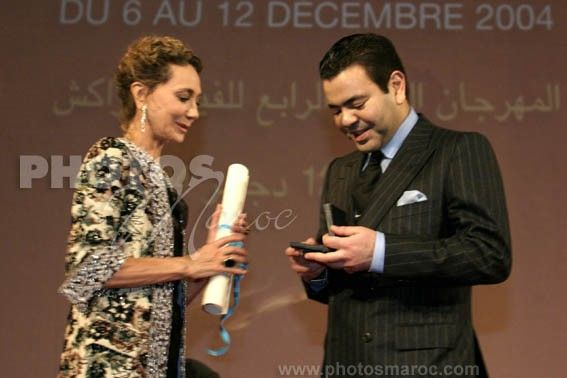 Prince Moulay Rachid receives the Fellini price of Unesco,12/12/2004.