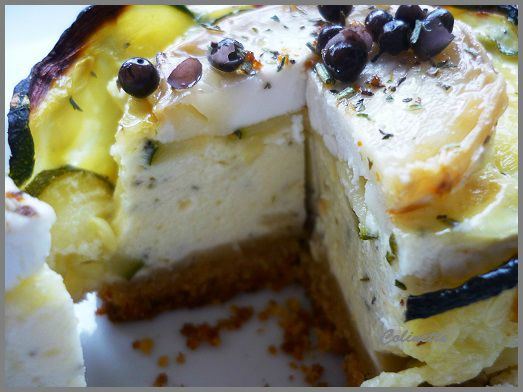 cheese caake chèvre et courgettes 01