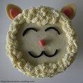 Sponge cake a la vanille et sa ganache montee a la vanille