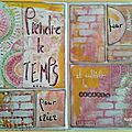 Gelli plate : une page d'art journal