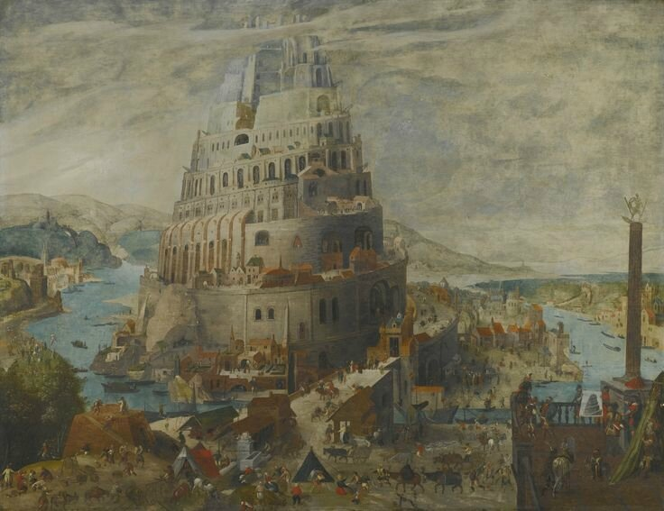Abel Grimmer (Antwerp circa 1570 – 1618/9), The tower of Babel