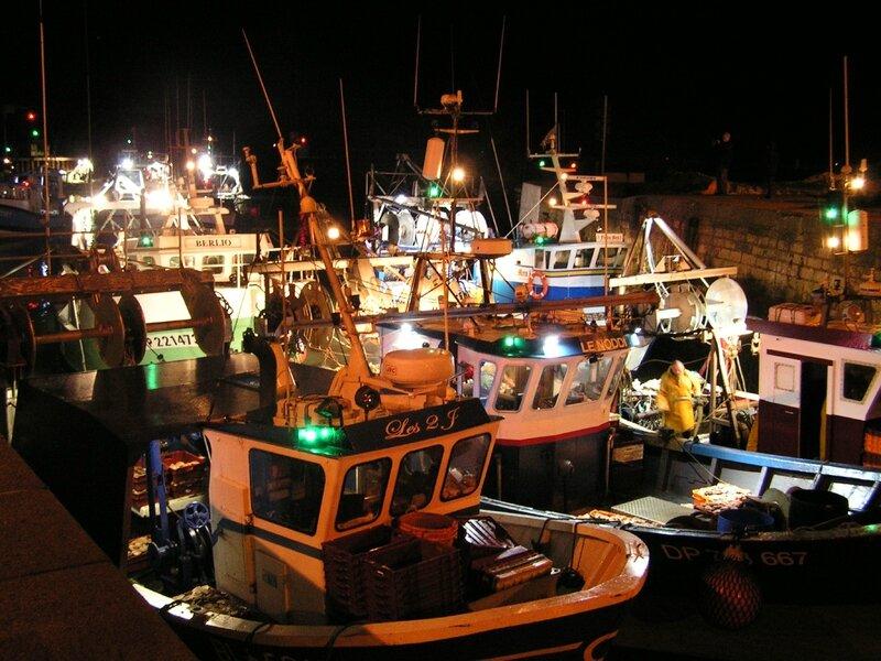 2015 12 10 - arrivée des bâteaux de pêche au port de Port-en-Bessin (1)