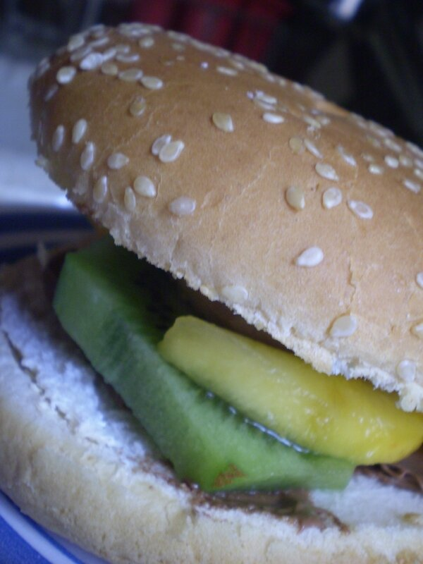 Hamburger aux fruits