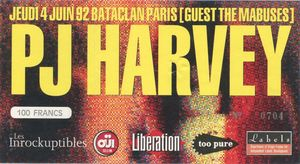 1992_06_PJ_Harvey_Bataclan_Billet