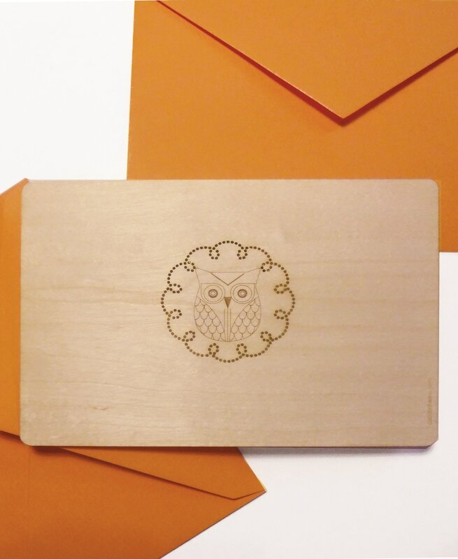 cocobohème HIBOU + enveloppe