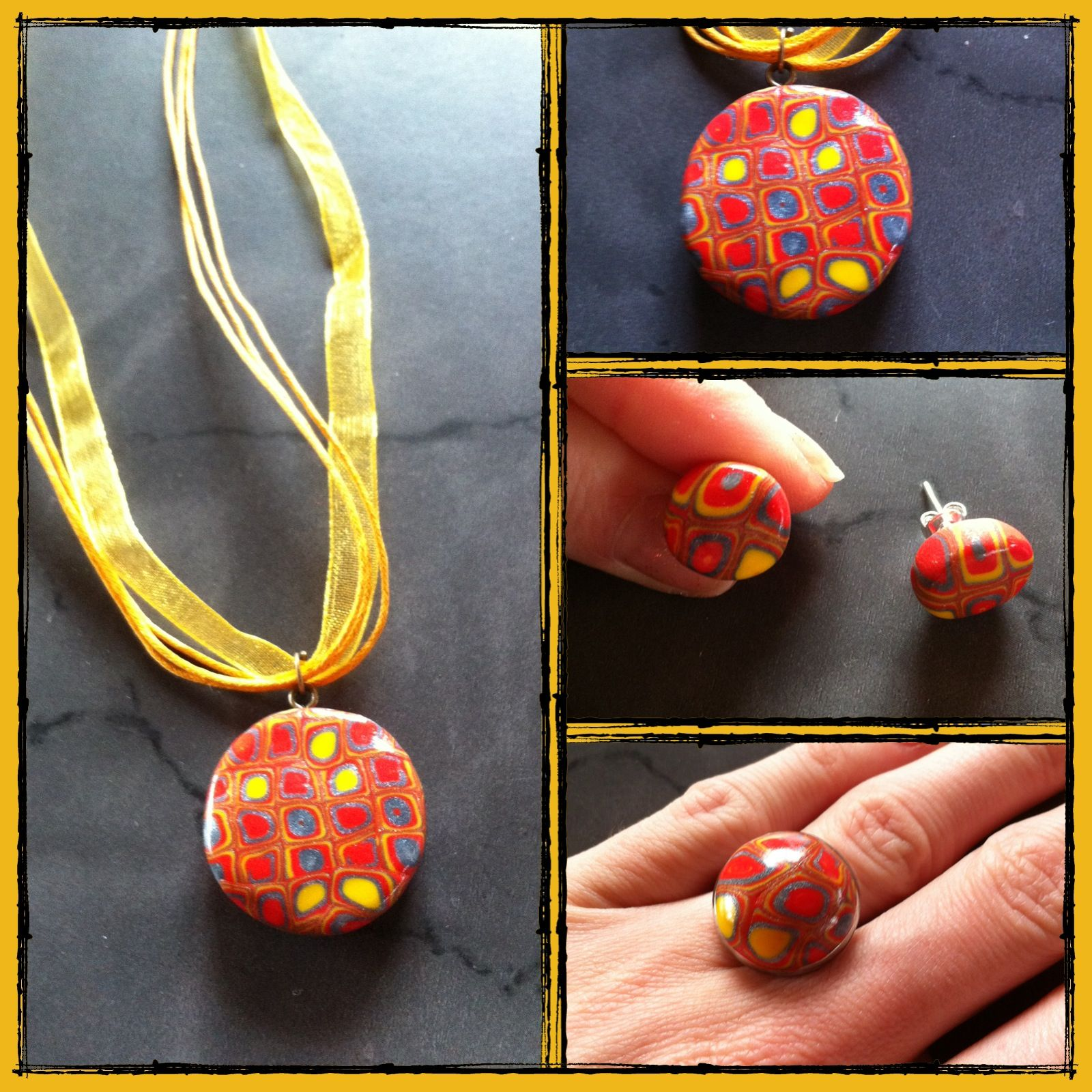 parure kaleidoscope jaune orange