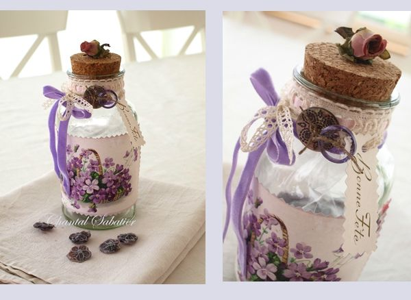 altered bottles creation Chantal Sabatier 1
