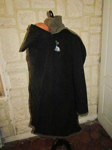 manteau de portage 3 en 1 noir et kaki chat (4)