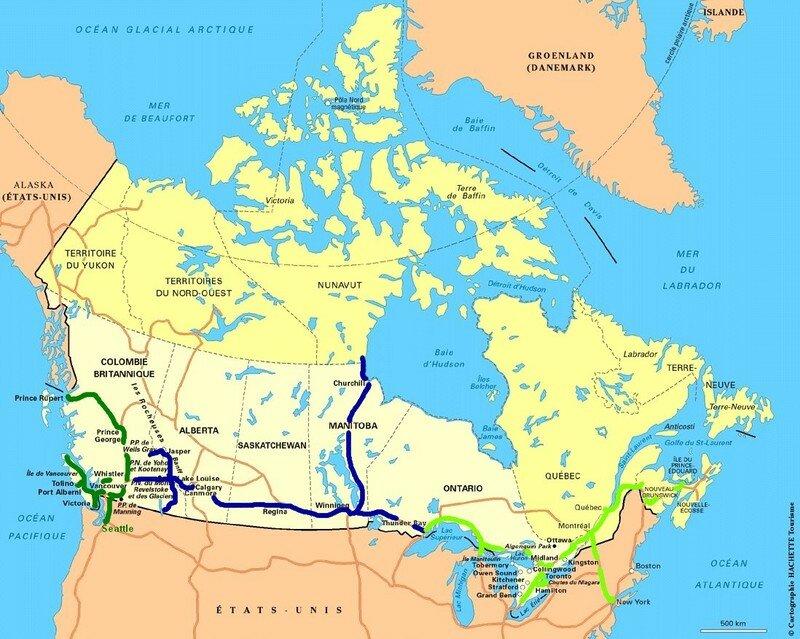 Carte Canada Montreal.Cartes Canada Vio Au Canada