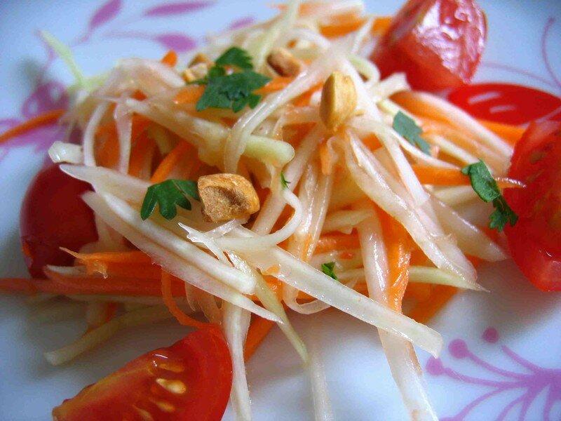 Salade de papaye verte - Som Tam