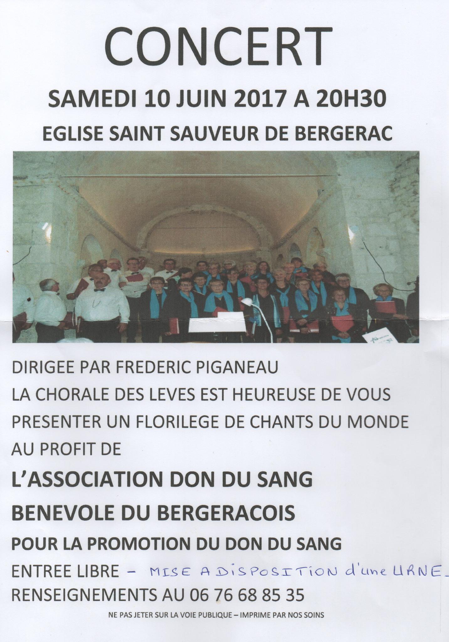 """Concert au profit du """"Don de sang"""""""