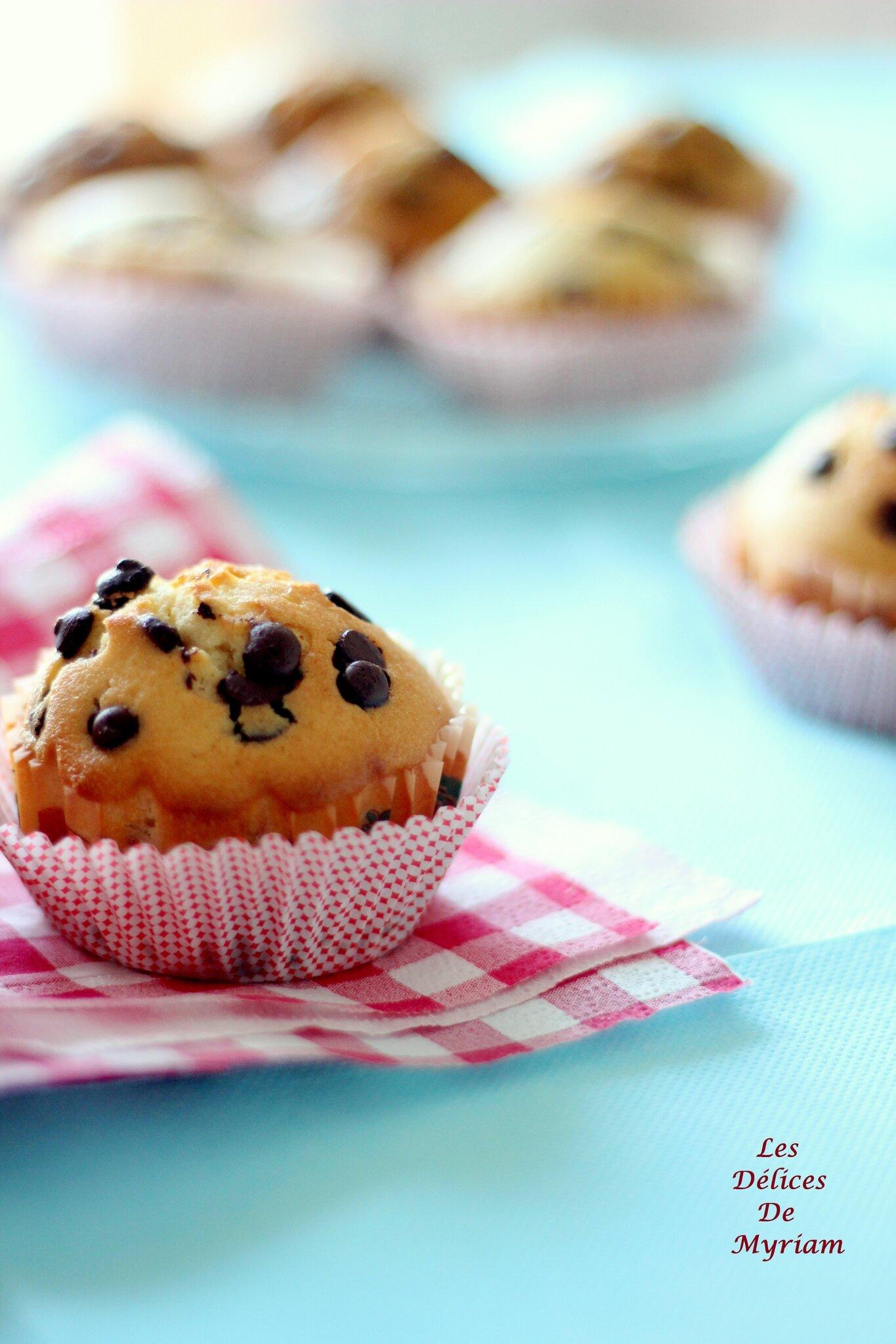 Muffins légers aux Pépites de chocolat ( recette de base )