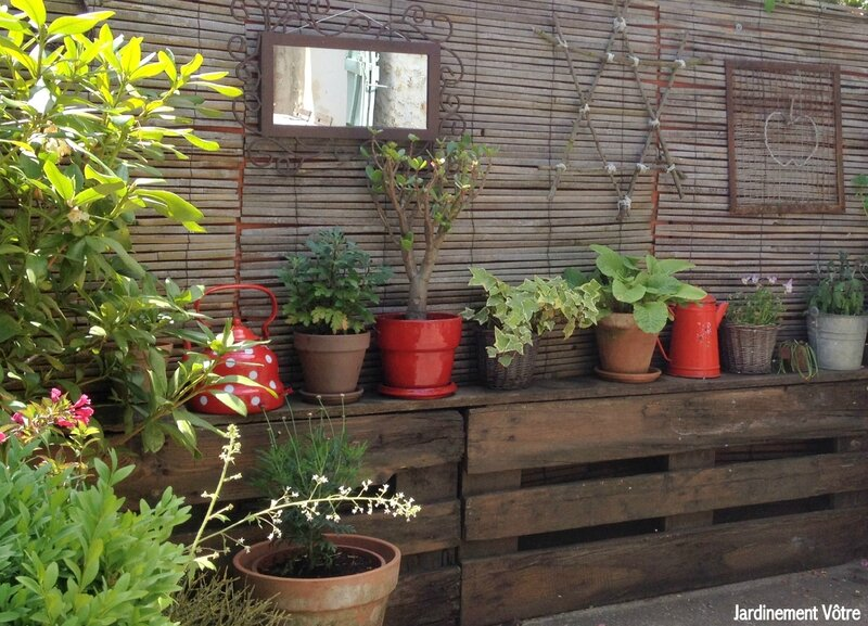 D co jardin mur for Idee deco salon de jardin