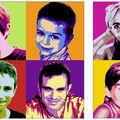 Portrait pop'art diptyque, nuanciers ABCD + EI