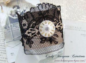bracelet manchette steampunk dentelle