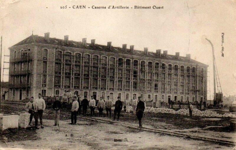 Caen caserne d'artillerie Batiment Ouest