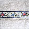 serviette à main dominante bleue