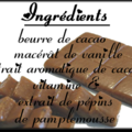 Masque gourmand au caramel rectangle