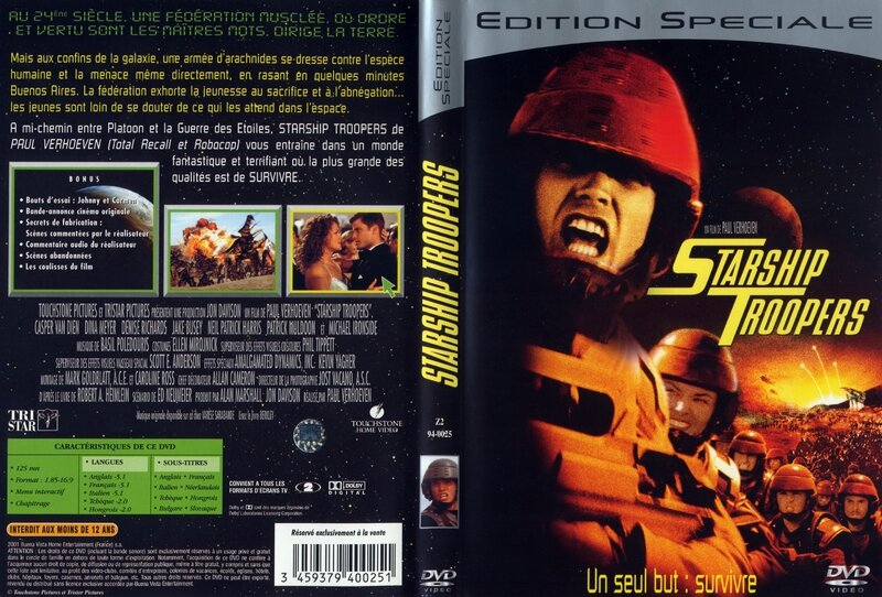 Jaquette Starship Troopers (1997)
