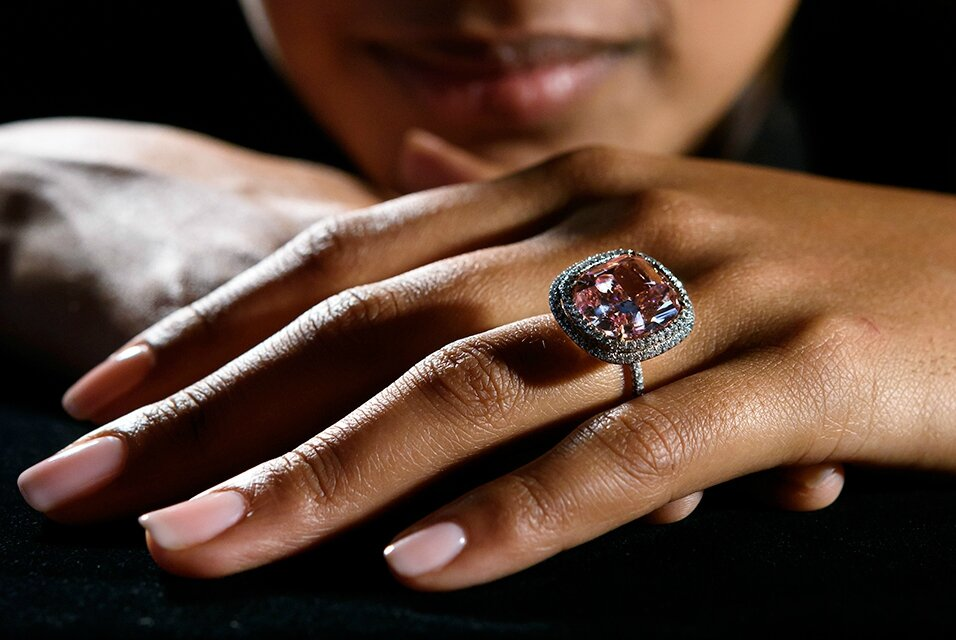 Rare pink diamond, the largest of its kind to ever appear at auction, sells for $28.5 million
