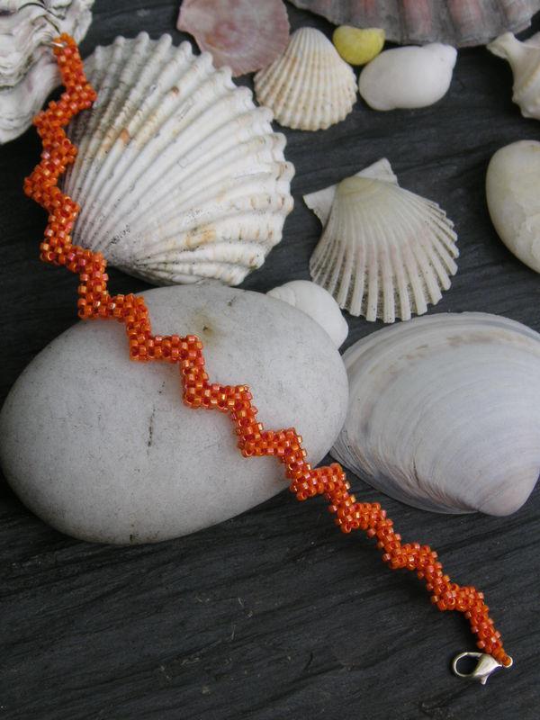 Bracelet raw orange