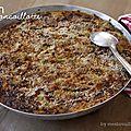 Gratin de courge spaghetti, poireaux & champignons, à la concoillotte