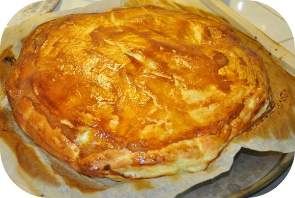 Repas du dimanche galette des rois avant remise au four pour 10 minutes