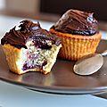 Cupcakes cerises-rhum et chocolat